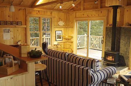 Granite Ledge Cabin Rental Wood Stove