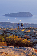 This is northerly view from the east side of Cadillac Mountain at sunrise.