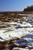 The Seawall in Acadia National Park is a natural formed seawall.