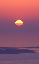 This is a sunrise as seen from Cadillac Mountain in Acadia National Park.